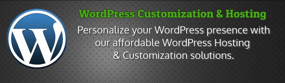 WordPress customization and hosting services, websites and web development
