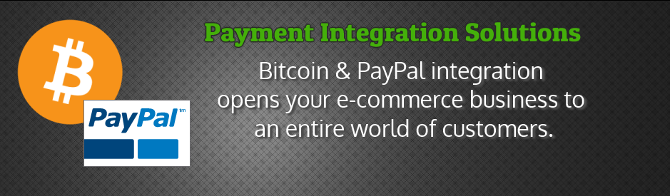 Bitcoin and PayPal payment integration for websites, e-commerce and online shops